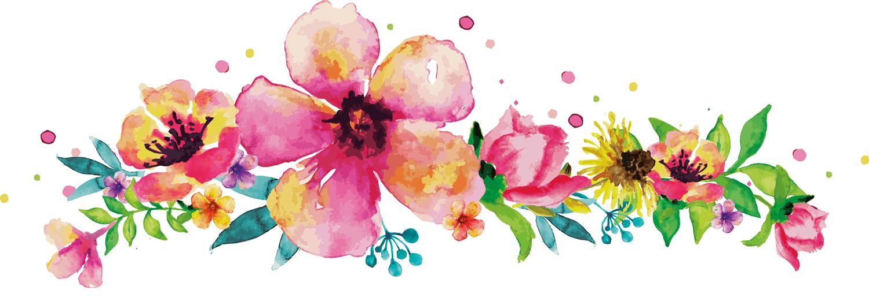 Aquarell Blumenranke