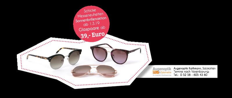 Sonnenbrillenaktion von Augenoptik Kathmann in Salzkotten
